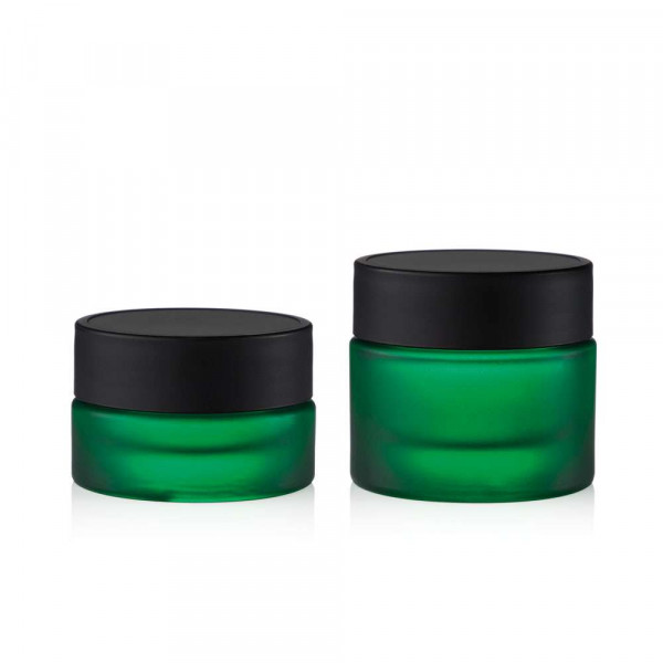 Glastiegel Grün matt